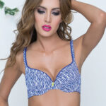 MID UP ZEBRA PRINT AZUL BARBARA
