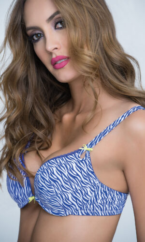 SUPER PUSH UP ZEBRA PRINT AZUL BARBARA